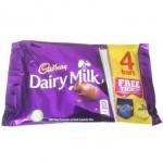Cadbury Dairy Milk Chocolate - 4 PACK (4x32.5g) (Best Before: 18/6/18)