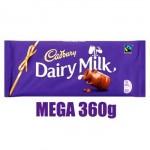 Cadbury Dairy Milk Chocolate (MEGA 360g) (Best Before: 09/03/18)