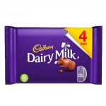 Cadbury Dairy Milk Chocolate - 4 PACK - MULTI (117g) (BB: 18.06.21) (SALE)
