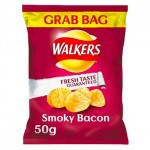 Walkers SMOKY BACON Crisps - 50g GRAB BAG (Best Before: 05.12.20) (50% OFF)