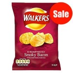 Walkers SMOKY BACON Crisps (32.5g) (Best Before: 14.11.20) (DISCOUNTED)