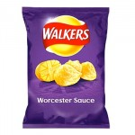 Walkers WORCESTER Sauce Crisps (32.5g) (BB:  05.12.20)