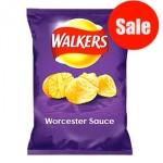 Walkers Worcester Sauce Crisps (32.5g) (BB:  21.11.20) (DISCOUNTED)