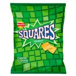 SQUARES Cheese & Onion Crisps (27.5g) (Best Before: 19.12.20) (50% OFF)