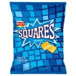 Walkers Squares Salt & Vinegar Crisps (27.5g) (Best Before: 18.04.20)