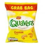 """Quavers """"Bigger"""" GRAB BAG (34g) (Best Before: 21.7.18) **REDUCED**"""