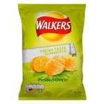 Walkers Pickled Onion Crisps (32.5g)  (Best Before: 31.03.18) **REDUCED**