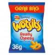 Walkers WOTSITS Cheese - GRAB BAG - 36g (Best Before: 21.09.19)