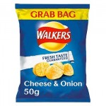 Walkers CHEESE & ONION - GRAB BAG - 50g (Best Before: 14.09.19) (REDUCED)