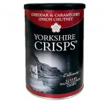 Yorkshire Crisps - Cheddar & Caramelised Onion Chutney -100g Drum (SALE)