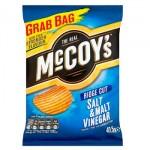McCoys Salt & Vinegar Crisps - GRAB BAG - 47.5g (Best Before: 28.03.20)