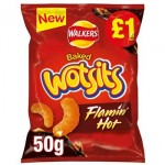 Walkers WOTSITS Flamin' Hot - PMP 50g (Best Before: 03.10.20) *LIMITED EDITION*