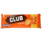 McVities Club Orange Biscuits (6+2 pack -176g) (Best Before: 19.01.19) (50% OFF)