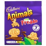 Cadbury Animals with Freddo Mini Biscuits - 7 Pack - 139.3g PMP (BB: 10.03.21)