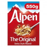 Alpen Original Muesli - 550g (Best Before: 16.03.21)