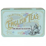 Vintage Victorian - Fine English Teas Selection Caddy - 72 Tea Bags (144g)