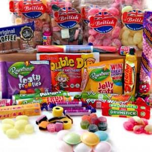 British Retro Sweets Hamper Gift Box British Sweets