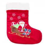 Large Stocking - Santa on Union Jack Sledge