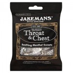 Jakemans THROAT & CHEST Menthol Sweets - 100g (Best Before: 06/2021)