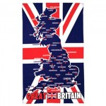 Tea Towel - Map of Great Britain Map Tea Towel