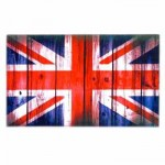 Tea Towel - Britannia Union Jack Tea Towel (Wood-grain)