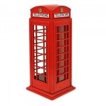British Telephone Box - Money Box (Die-cast)