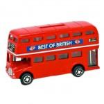 """Money Box - Double Decker Bus """"Best of British"""" (Die-Cast)"""