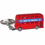 Keyring - Double Decker Bus Keyring (Die-cast)