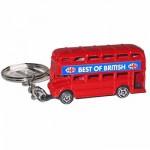 Keyring - Double Decker Bus Keyring (Die-cast)