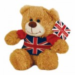 British - Union Jack Teddy Bear - 15cm Soft Toy (1 Left)