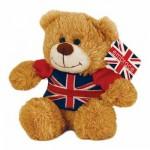 British - Union Jack Teddy Bear - 15cm Soft Toy