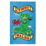 Tea Towel - Welsh Cymru Map Tea Towel