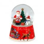British - Union Jack Santa Christmas Snow Globe **XMAS CLEARANCE**