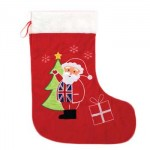 Santa Stocking (Santa in Union Jack Waistcoat)