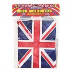 British - Union Jack Bunting (11 Rectangle Flags - 12ft Long) (OUT OF STOCK)