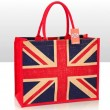 Union Jack - Jute Shopping Bag with Gusset