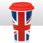British - Union Jack Double Walled Coffee Cup (Availability 7)