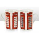 One British Telephone Box Design Mug (Lippy)