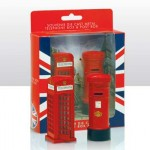 British Telephone Box & Post Box (Die-Cast)