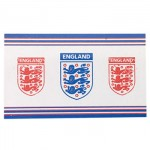 England FA Flag - 3 Shields - Body Flag (150x90cm) (3x5ft) (3 Only)