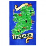 Tea Towel - Map of Ireland