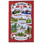 "Tea Towel - Scotland ""Wish You Were Here"""