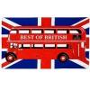 """Tea Towel - """"Best of British"""" Bus on Union Jack Tea Towel"""