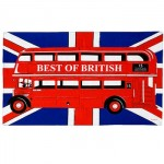"Tea Towel - ""Best of British"" Bus on Union Jack Tea Towel"