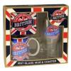 British Pint Glass, Mug & Coaster Set  (Availability 2)