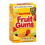 Rowntrees FRUIT GUMS Carton (125g) (Best Before: 06/2017)