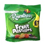Rowntrees FRUIT PASTILLES Bag (120g) 'Price Marked' (Best Before: 03/2017) **REDUCED - LAST FEW**