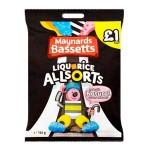 Bassetts Liquorice Allsorts PMP (165g Bag) (Best Before: 15.03.19) **50% OFF**