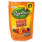 Rowntrees FRUIT GUMS Bag (120g) 'Price Marked' (Best Before: 12/2018) (4 Left)