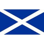"Scotland - St Andrews Flag on Pole (45x30cm) (18x12"")"